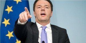08/03/2014 Roma, il governo presenta il Documento di Economia e Finanza. Nella foto il premier Matteo Renzi
